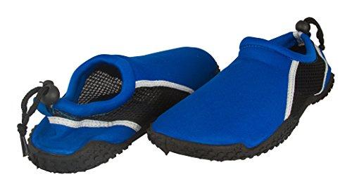 Zack & Evan Herren Neopren und Mesh Wasser Strand Schuh mit Strap Kobalt / Schwarz