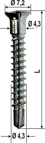 Sonderschraube f/ür Sicherheitsschlie/ßbleche,Top Silver 800 4.3x32 1000 ST