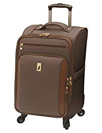 London Fog Kensington 21 Inch Expandable Spinner Carry-On, Bronze, One Size