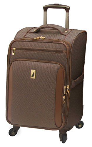 London Fog Kensington 21 Inch Expandable Spinner Carry-on, Bronze ()
