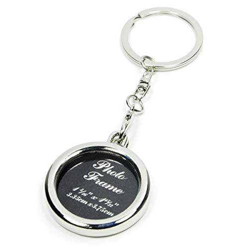 Elechobby Small Picture Frame Key Chain Ornament (Circle)