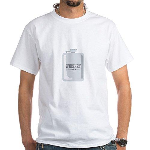 CafePress Whiskey T-Shirt 100% Cotton T-Shirt, White (Best Liquor For Cough)