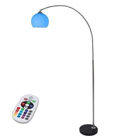 Lámpara de pie LED Arco 6 W RGB | Pantalla de plástico ...
