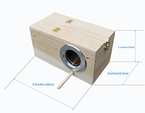 Bird Nesting Box (Parakeet Nest Box, Budgie Nesting House, Breeding Box for Lovebirds, Parrotlets Mating Box 848102)