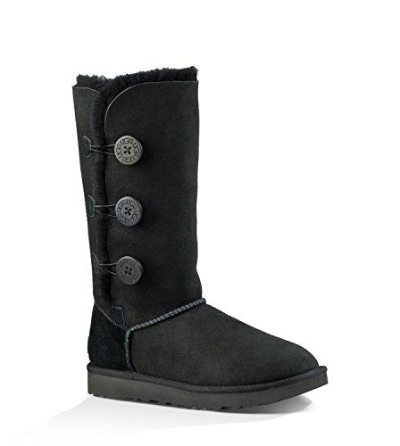- UGG Women's Bailey Button Triplet II Winter Boot, Black, 8 B US
