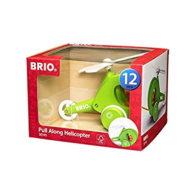 Brio 30195 Pull Along Helicopter : Push And Pull Baby Toys : Baby