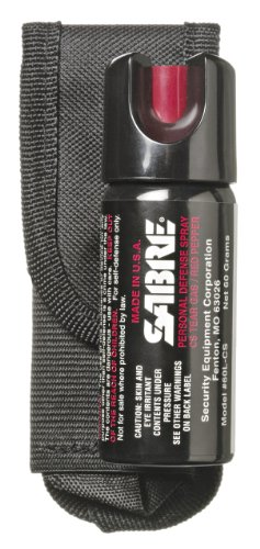 Sabre 3-IN-1 Pepper Spray – Advanced Police Strength – with Belt Holster (2.5 oz)