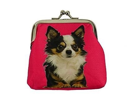 Amazon.com: Chihuahua de pelo largo cartera por instantánea ...