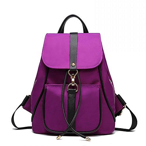 Faux Leather Fashion Shoulder Bag Backpack Men Women For Blue Nylon Purple L017 Classic and Unisex tFaqAwxnEa