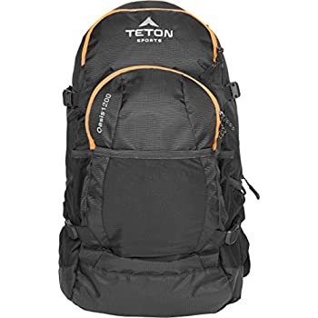 TETON Sports Oasis 1200 3-Liter Hydration Backpack; Day Pack Perfect for Hiking, Cycling, Biking, Climbing, Hunting, Running, and Outdoor Activities; 3L Water Bladder Included; Sewn-in Rain Cover; Black