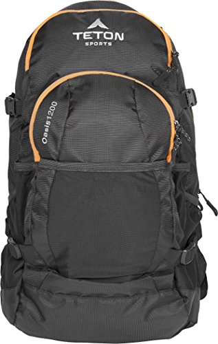 TETON Sports Oasis 1200 3-Liter Hydration Backpack; Free 3-Liter Hydration Bladder; Backpacking, Hiking, Running, Cycling, and Climbing; Black