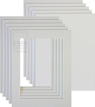 With Equal 35mm Borders A4 Bright White Pack of 5 Picture Mounts with Backs Overall Size