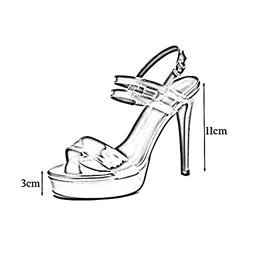 Summer Open Feifei Red Women's Shoe Show Button Nightclub 11CM Prom Toe Waterproof One Buckle Shoes Sandals Platform Roman 1fgnqgx