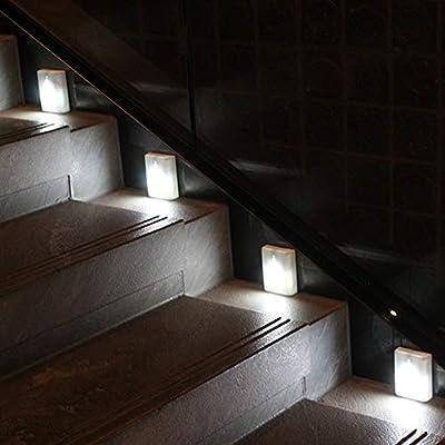 WRalwaysLX 2018 Latest Motion Sensor LED Stair Light Stick-Anywhere Nightlight for Stairway,Hallway,Closet,Bathroom