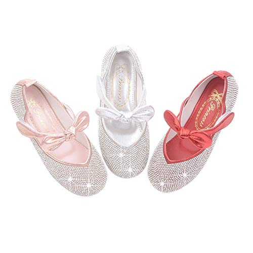 YIBLBOX Toddler Baby Girls Dress Shoes for Wedding Prom Party Princess Kids Mary Janes Flats