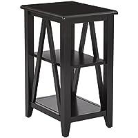 OSP Designs Santa Cruz Small Side Table, Black