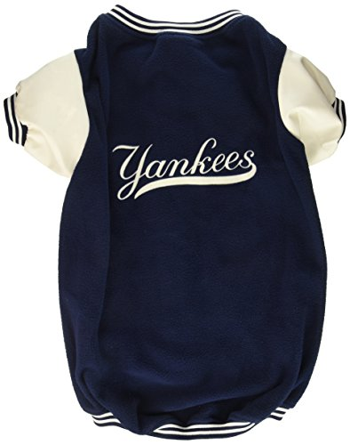 Sporty K9 New York Yankees Varsity Dog Jacket, X-Large