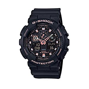 41KN cJYOKL. SS300  - Casio G-Shock Black Rose Gold Analog Digital Watch GA100GBX-1A4