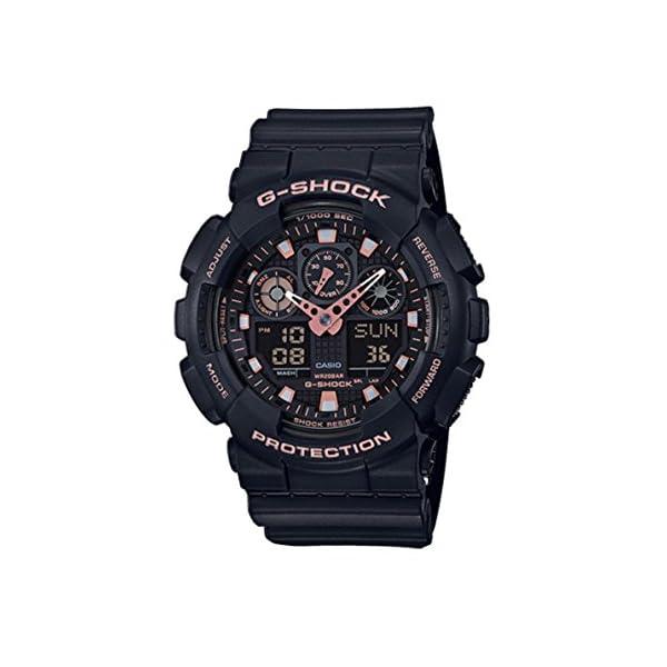 41KN cJYOKL. SS600  - Casio G-Shock Black Rose Gold Analog Digital Watch GA100GBX-1A4