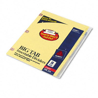 Avery® Double Sided Reinforced WorkSaver® Big TabTM Insertable Paper Dividers