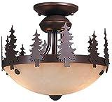 Vaxcel LK55512BBZ-C Yosemite 11-1/2'' Light Kit, Burnished Bronze, Brown