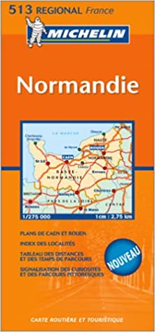 Amazon Fr Carte Routiere Basse Normandie Haute Normandie Cartes Regional Michelin Livres