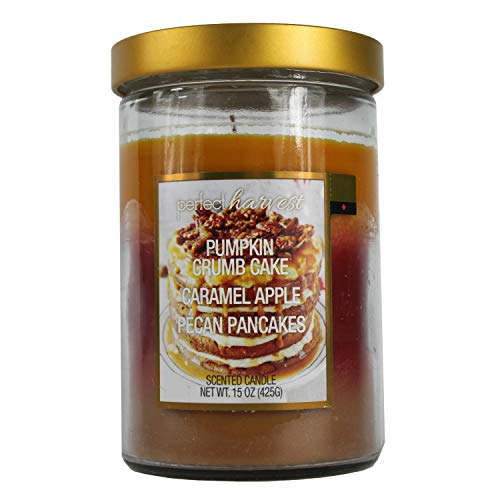 Happy Home Gifts Perfect Harvest Pumpkin Crumb Cake Caramel Apple Pecan Pancakes Scented Candle 15 ()