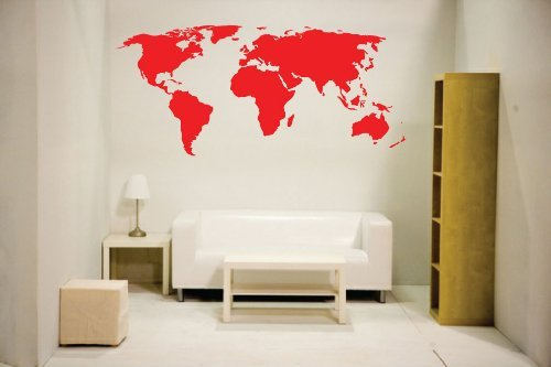 Amazoncom Blue newclew world map wall decal blue Vinyl Art