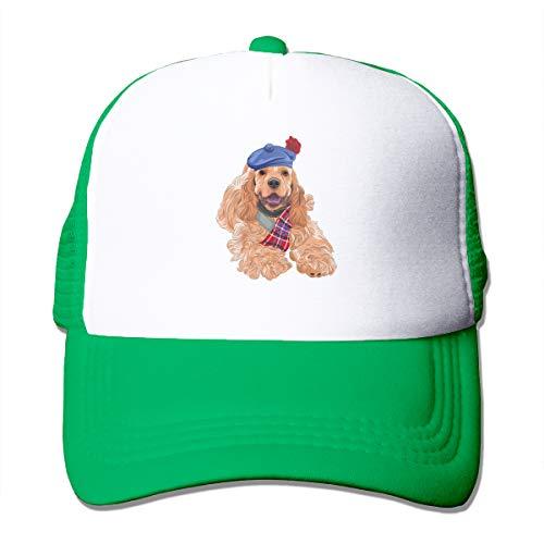 Unisex Dog Xpres Best Friends Golden Retriever Trucker Cap Suitable for Indoor or Outdoor Activities Green (Golden Retriever Pets Cap)
