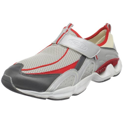 Maui Surf Company Men's Cirrus Fashion Sneaker,Silver/Crimson/Gray,7.5 M US