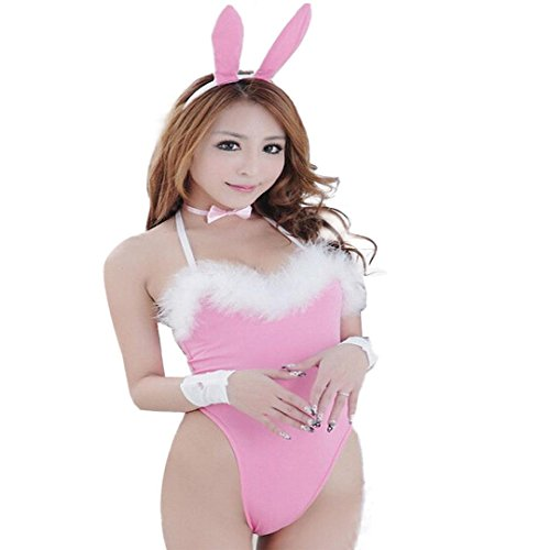 IUNEED Sexy Bunny Girl Uniform Rabbit DS-Bar Suit With Ear Consume Teddyress (Sexy Bunny Lingerie)