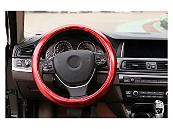 LridSu Space Leather Car Volante Cover Comfort Durability Safety Respirable Antideslizante Car Steering Wheel Wheel Sleeve