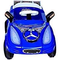 Joyride Baby's Pedal Mercedez Car with LED Musical and Sterring Handle Along with Safety Learn to Ride Trike (Colour May Vary)