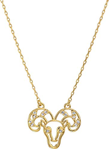 Kate Spade New York Women's Celestial Charm Aries Pendant Necklace Clear/Gold One Size ()