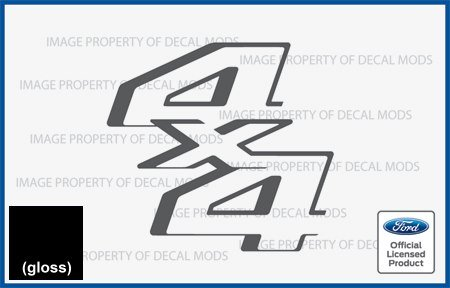 Decal Mods 4x4 Decals Stickers for Ford F250 F350 F450 Super Duty (2011-2016) - CB (Black -