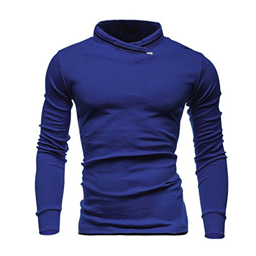 PASATO Classic Men's Autumn Winter Solid Long SleevedSweatshirts Top Blouse Clearance Sale(Blue, M=US:S) by PASATO