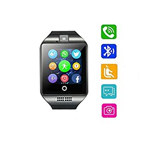 Smart Watch Bluetooth Touchscreen with Sim/TF Card Slot, Smartwatch Cell Phone, Fitness Activity Watch support Push Message Notification Sleep Monitor for Android Samsung Iphone (black-1)