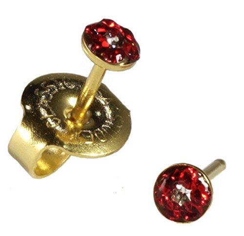 Ear Piercing Earrings SHORT POST Baby Studs Gold - 24kt Gold Earring Studs