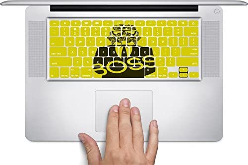 Yellow /& Black Boss Stormtrooper Art Keyboard Decals by MWCustoms for 12 inch MacBook