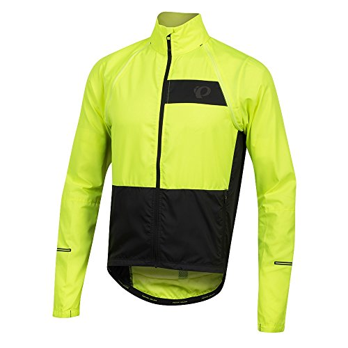 Pearl iZUMi Elite Escape Convertible Jacket, Screaming Yellow/Black, Size: Large