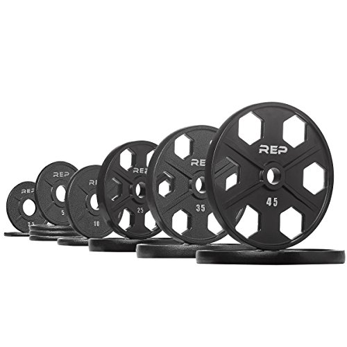 Rep Equalizer Iron Olympic Plates, 2-Inch Precision Weight Plates