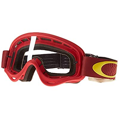 Oakley XS O-Frame Shockwave Red Yellow with Clear unisex-child Goggles (Red, Small), 1 Pack: Automotive
