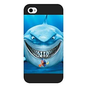 Customized Black Frosted Disney Finding Nemo iPhone 4 4s case