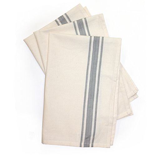 Aunt Martha's Gray Striped Dish Towels,