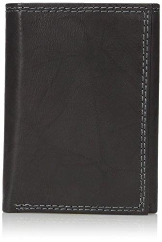 Buxton Men's Hunt Threefold Wallet, Black, One - Mens Wallet Fold Three