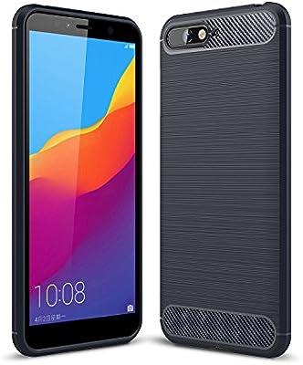 KISCO para Huawei y6 2018 Funda,Ultra Slim Flexible Soft Carbon ...