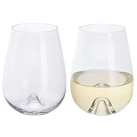 ec3a5d3c28a Image Unavailable. Image not available for. Color: Dartington Crystal  WB428/P Stemless Wine Glass ...