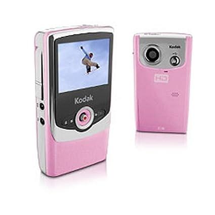 amazon com kodak zi6 pocket hd camcorder pink discontinued by rh amazon com Kodak Mini Camera Kodak Camera