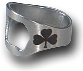 ring thing bottle opener shamrock design size 8 small at amazon women s clothing store. Black Bedroom Furniture Sets. Home Design Ideas