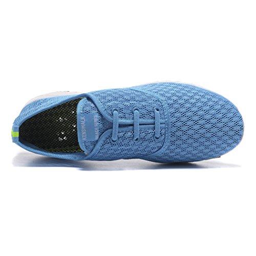 Shoes Kenswalk Lightweight Blue Shoes Walking Slip Women's On Aqua Water qaaxAw4T